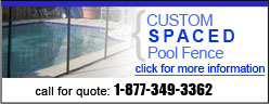 Custom Spaced Pool Fence
